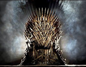 IronThrone model for 3ds max 2018 corona game-ready 1