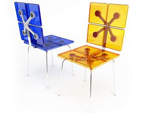 Funky Square Shaped Chairs 3D