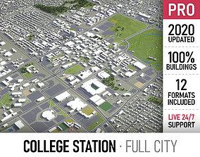 3D model College Station - city and surroundings