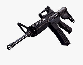 3D animated M4A1 Assault Rifle