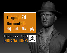 Harrison Ford Indiana Jones 3D printable model