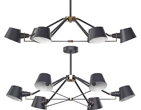 Chandelier Freya Abigail FR5038-CL-06 3D model