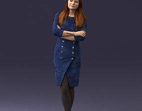 Woman in denim skirt 0469 3D Print Ready