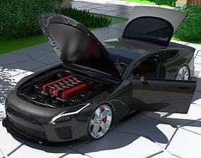 Generic Super Sports 2 Door Coupe With Sport 3D model 1