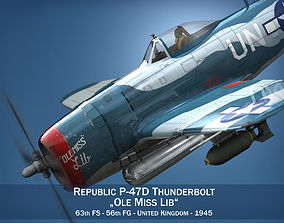 Republic P-47 Thunderbolt - Ole Miss Lib 3D model