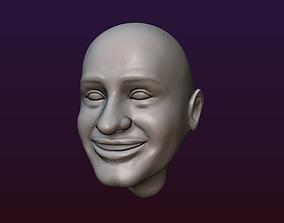 3D printable model Male Head 6 - Bald head