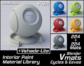 3D VMATS Interior Paint Material Library for Cycles and 1