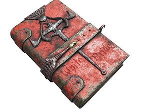 Vintage magic book 3D asset