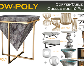 3D model Coffee table collection 10 pieces