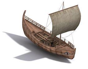 Kyrenia Ancient Trade Ship 3D asset VR / AR ready