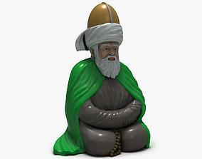 3D Models Turkish Old Man Sculpture