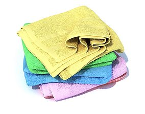 3D model Multi Colored Large Towels