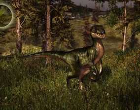 3Dfoin - Raptor animated low-poly