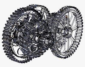 Crystal Gears Mechanism 3D animated