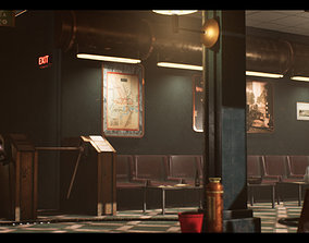 3D model SteamPunk Victorian Metro Station Interior