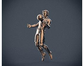 Soccer player 3D print model