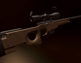 3D asset game-ready AWP - Accuracy International L96A1
