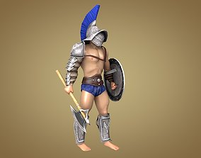 Gladiator Gaul 3D model animated