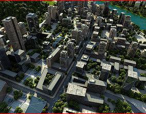 Modern City Animated 100 3D