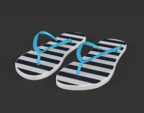 3D model rubber Flip Flops