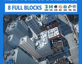 NYC - 8 Blocks - 68 Buildings V2 3D asset