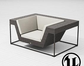 Dedon Zofa Chair 001 UE4 3D model