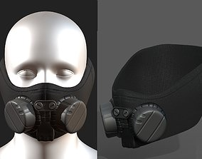 Gas mask helmet scifi fantasy armor hats military 3D asset