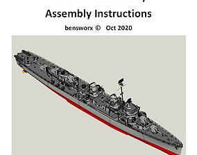 1 72 Fletcher Class Destroyer RC Model Ship Instructions