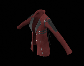 Red Leather Jacket 3D model rigged low-poly
