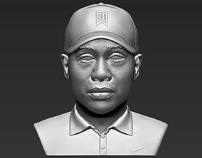 Tiger Woods bust 3D printing ready stl obj formats
