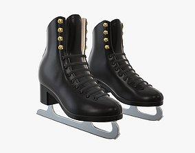 3D model Figure ice skates women