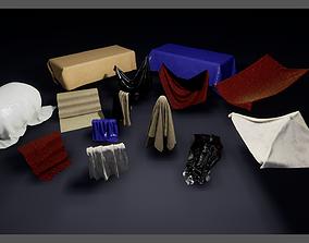 Draped Cloth Meshes 3D