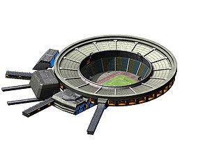 Different dimension - stadium - square 02 3D model