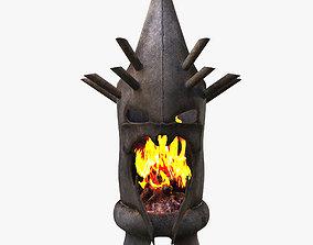 Fireplace head dark 3D
