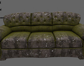 Armchair 3D model low-poly stall