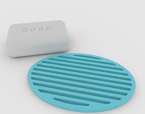 MINIMALIST soap holder drip tray beer 3D printable model