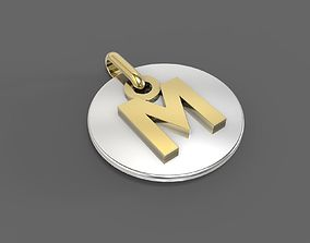M Pendant 3D print model