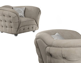 3D armchair GOLD CONFORT SCARLETT