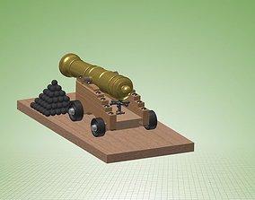 Naval Cannon 3D