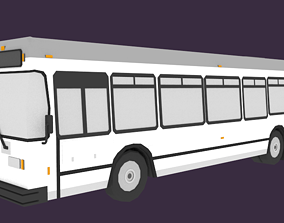 3D model Low-Poly Metro Passenger Bus