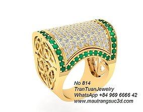 814 Diamond trunks Ring for women 3D printable model