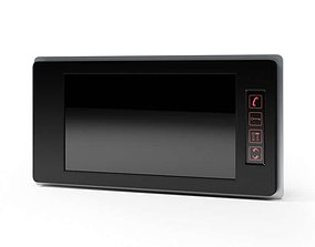 3D Black Lcd Intercom Screen