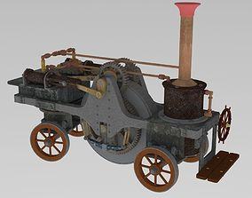3D Sterling traction engine 1859