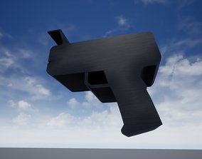 3D model ammo Futuristic Gun