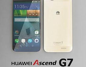 3D Huawei Ascend G7 Gold