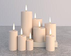 3D Candles Smokeless