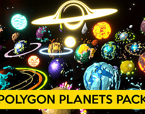 Polygon Planets Pack 3D model