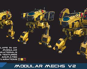 PBR Modular Mechs v2 3D asset