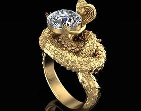 Ring Woman Snake 3D print model