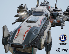 Spaceship Nemesis - low poly 3D model